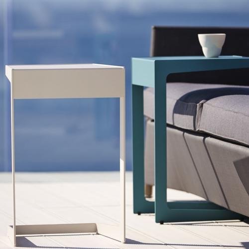 thumb_5025AW_5025AA Cane Line Couchtisch Time Out 71x71 Aluminium Outdoor